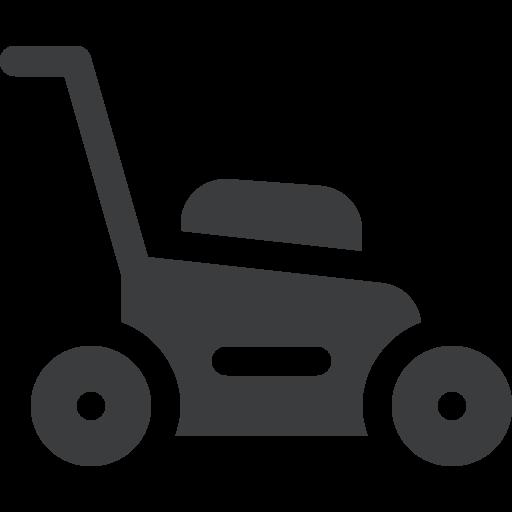 petrol lawn mower repair icon